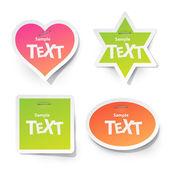 Sticker voor tekst — Stockvector