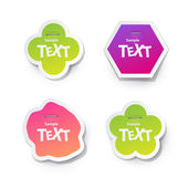 Sticker for text — Stock Vector