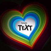 Abstract colour heart symbol — Stock Vector