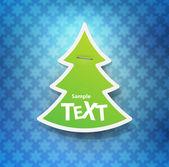 Christmas symbol tag — Stock Vector