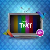 空の画面とテレビ ボックス — ストックベクタ