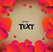 Valentines day brochure — Stock Vector