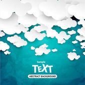 Abstract speech bubbles in the shape of clouds — Vector de stock