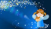 Engelachtige met ster — Stockfoto