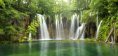 Big waterfall from Plitvice — Stock Photo