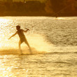 Stock Photo: Wake- boarding on lake