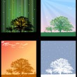The depiction of the four seasons in four windows — Stock Photo