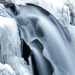 Little waterfall and needle ice — Stock Photo