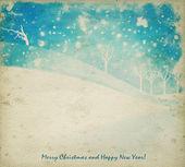 Akvarel vánoční pozadí — Stock fotografie