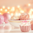 Tasty cupcake with butter cream — Stock Photo #38279217