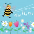 Bee happy — Foto de stock #38470347