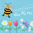 Bee happy — Foto Stock #38470347
