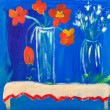 Stock Photo: Flowers in vases acrylic painting by Kay Gale