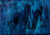 Blue Feathers background in wax painting — Stock Photo