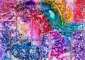 Tapestry art pattern in wax — Stock Photo