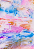 Pink and blue paint splodge abstract — Stock Photo