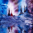 Cavern of Castles painting in wax — Stok fotoğraf