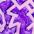 Purple zigzag wax painting — Stock Photo