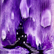 The Kings purple castle painting in wax — Stock Photo