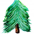 Stock Photo: Painted pine tree isolated