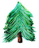Painted pine tree isolated — Stock Photo