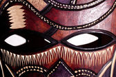 Wooden tribal mask close up — Stock Photo