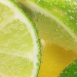 Lemon and lime slices in water — Stock Photo #17590653
