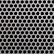 Metal grill dot pattern - Stock Photo