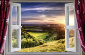 Amazing window view — Stock Photo