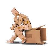 Denken sie außerhalb der box-konzept — Stockfoto