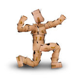 Powerful boxman posing — Stock Photo