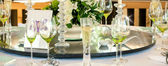 Wedding table display — Stock Photo