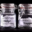 Trapped concept jars — Stock Photo #40374069