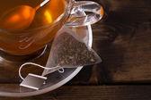 Fresh glass cup of tea — Stock Photo