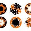 Set of abstract sun concepts — Stock Vector
