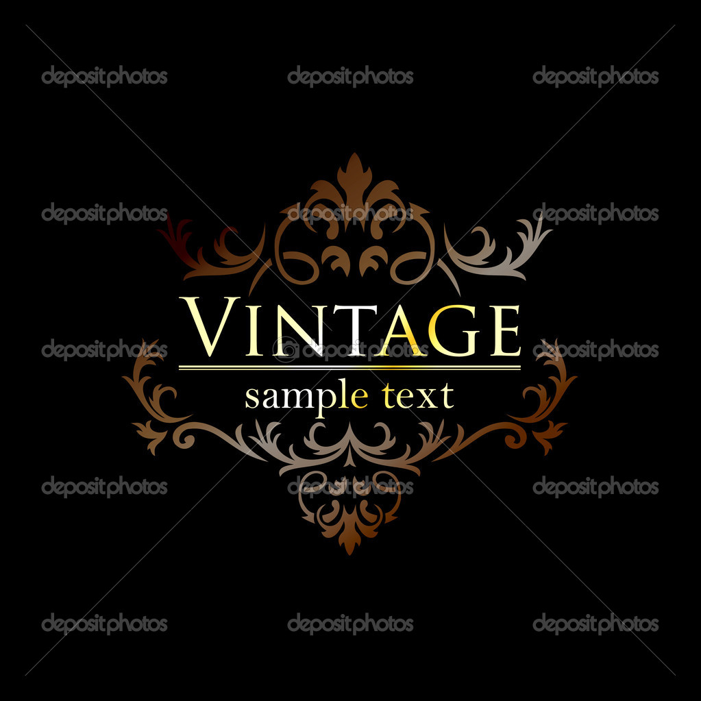 Royal vintage design in editable vector format  Stock Vector #12767030