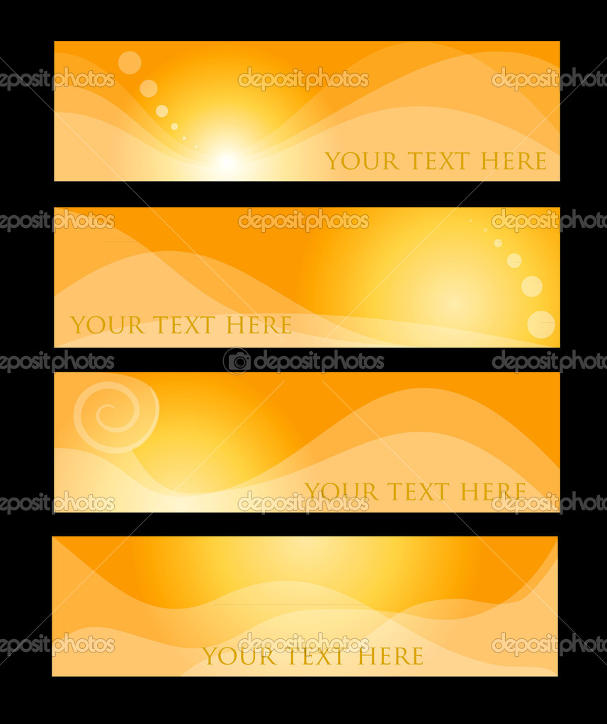 Orange hather concepts in editable vector format  Vektorgrafik #13247571