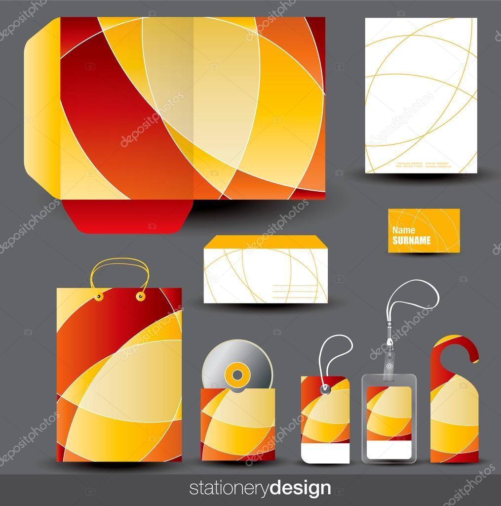 Stationery design set in editable vector format — Stock Vector #13397042