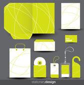 Ensemble de conception de papeterie — Vecteur