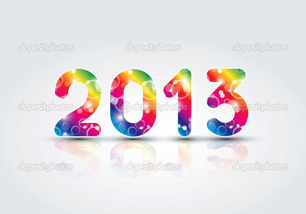 2013 New Year illustration in editable vector format — Stock Vector #13491111