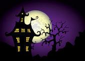 Halloween natt illustration — Stockvektor