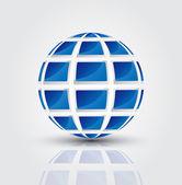 Concepto global de la televisión — Vector de stock