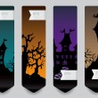 Vertical banner concept for Halloween — Stock Vector