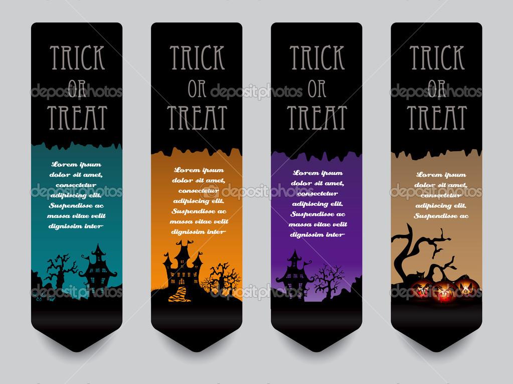 Vertical banner concept for Halloween — Stock Vector © archymeder ...