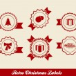 Stock Vector: Retro Christmas Labels