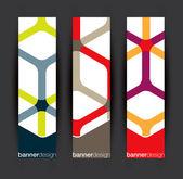 Vertical banner elements — Stock Vector