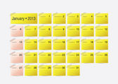 Simple calendar design for 2013 — Stock Vector