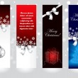 Christmas banner concepts — Vector de stock