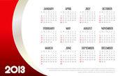 2013 Business Calendar — Stock Vector