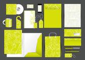 Große briefpapier-design-set — Stockvektor